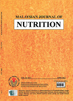 Malaysia Journal of Nutrition