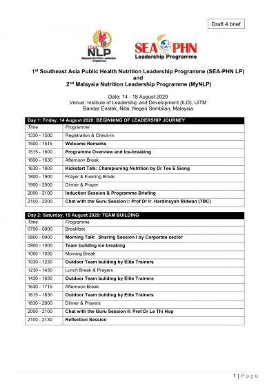 MyNLP 2020 Programme Agenda